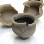 3 roman small bowls (cracked)